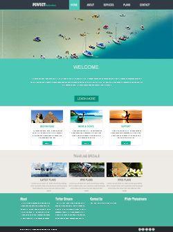 素雅旅游网站模板