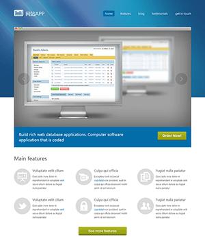 网站应用开发网站html模板