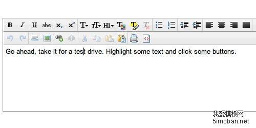 CLEditor轻量级小巧的在线HTML编辑器
