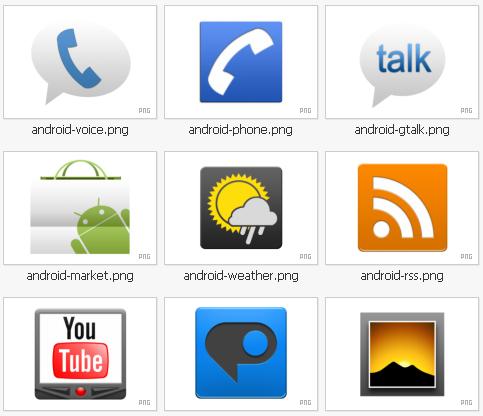 49款包含安卓等logo的网页图标下载