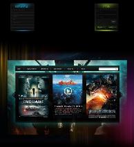 黑色质感导航和登录区的游戏网站首页PSD模板