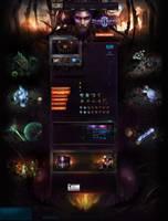 仿星际争霸官网游戏网站PSD模板