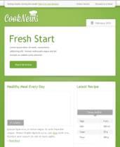 草绿色饮食行业PSD网站模板——CookNews
