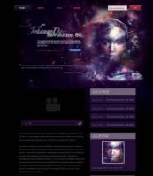 紫色科幻感个人博客PSD模板