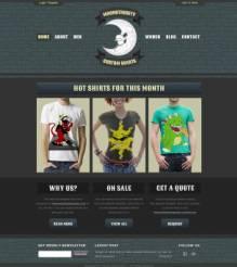 灰色简约服装网上商店PSD模板