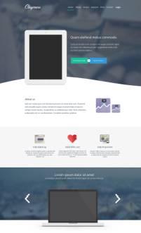 扁平化设计的大气电子产品网站PSD模板
