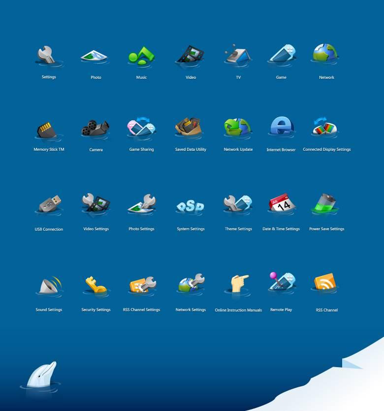 """30个质感""""半沉于水""""的网页图标图片"""
