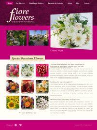 玫瑰红色鲜花网站PSD模板