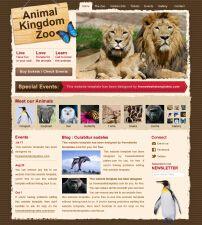 可爱的动物园网站模板PSD分层