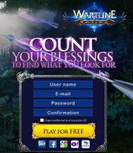 Wartune 游戏网站首页模板PSD分层