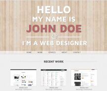 木板风格个人博客单页面HTML模板