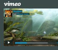 网页视频播放器界面PSD模板