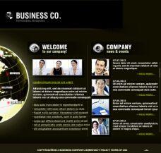 商务网站flash模板