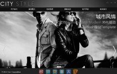 city摄影服装flash网站模板