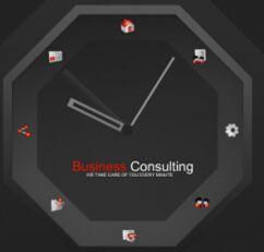 flash时钟效果的个人网站模