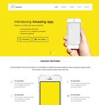 手机APP网站模板,扁平化响应式布局