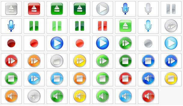 网页播放器png按钮,共47个图片