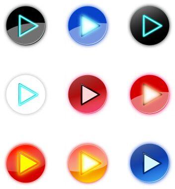 九种颜色网页播放器播放按钮
