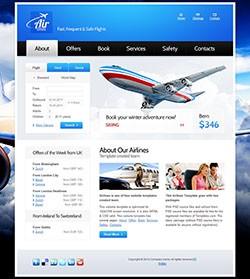 国外航空公司网站html模板