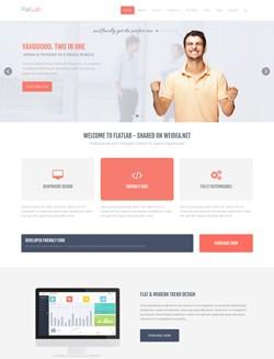 FLAT商务网站HTML5网站模板
