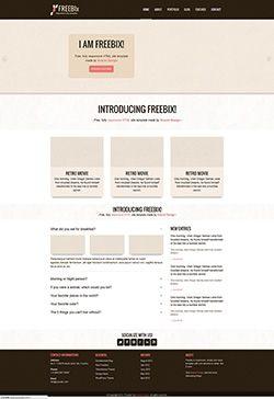 褐色企业网站自适应html模板