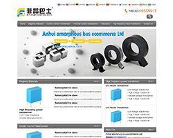非晶合金材料网站html模板