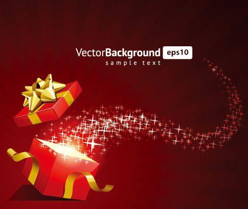 红色圣诞节网页背景eps矢量格式