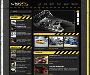黑色汽车网站html模板