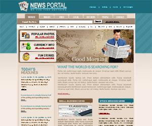 新闻门户网站css静态模板