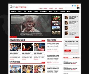 黑色响应式门户网站html模板