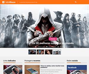 娱乐信息分享网站响应式静态模板