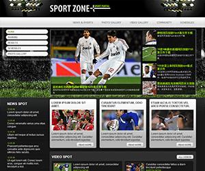 足球网站html模板,足球门户网站模板