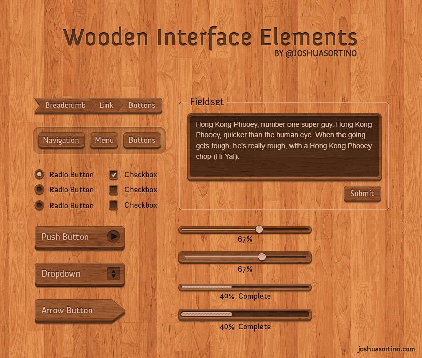木质纹理的按钮,木质纹理的进度条