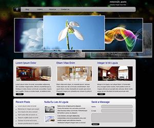 黑色个人博客网站html模板