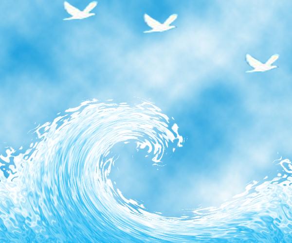 PS波纹和旋转扭曲制作浪花效果