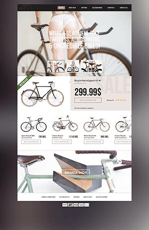 自行车商城PSD模板