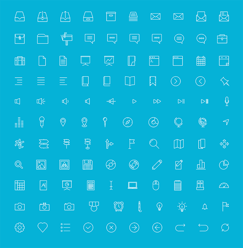 110个线性UI图标