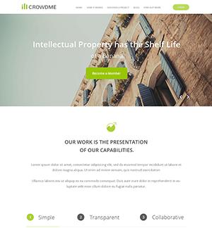 icrowdme项目投资网站PSD模板