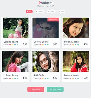 女性商城网站psd模板
