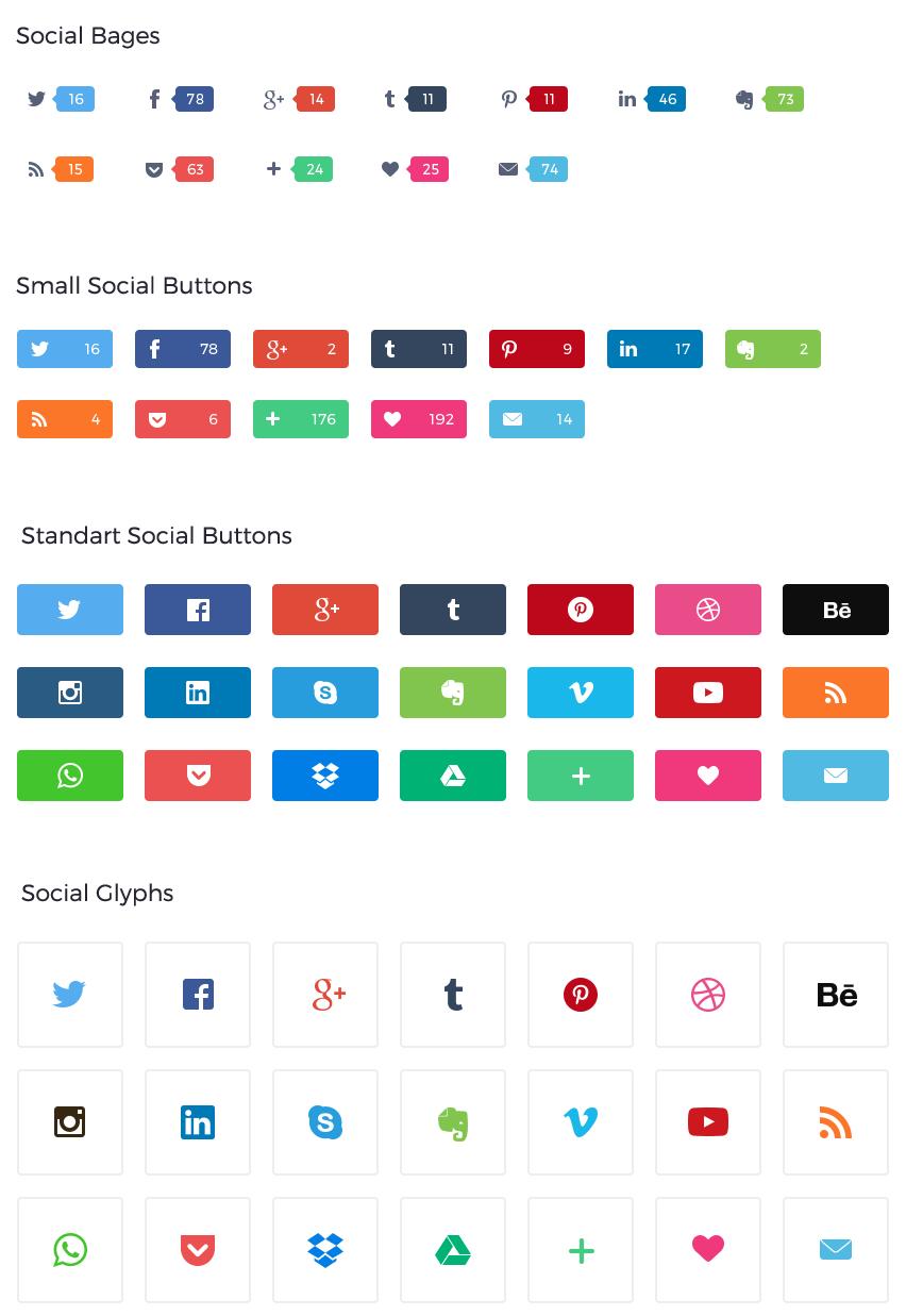 社交网站logo按钮图标