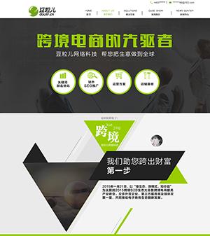 多边形几何设计风格电商网站PSD模板