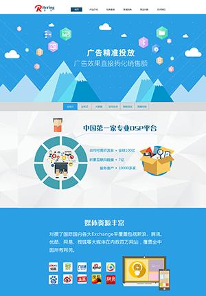 广告投资公司网站PSD模板