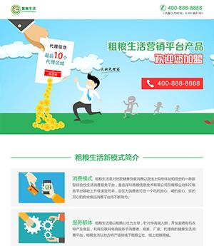 电商平台网站PSD模板