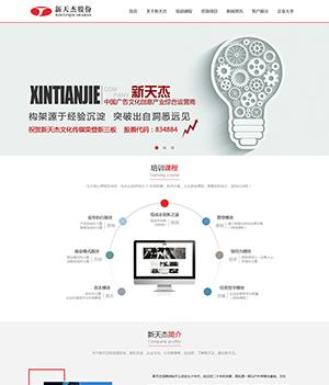 企业管理层培训公司网站PSD模板