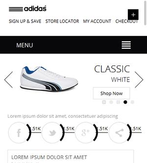 鞋子商城网站响应式静态网页模板
