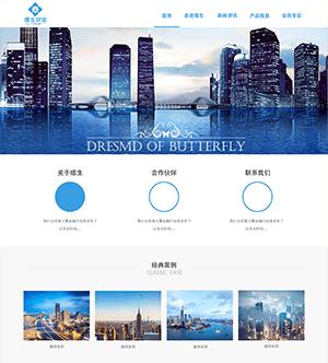 蓝色网贷投资金融公司网站PSD模板