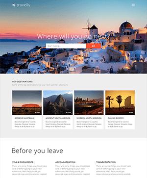旅游类网站响应式PSD模板