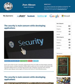 个人博客响应式html模板