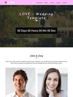粉色婚礼网站响应式模板