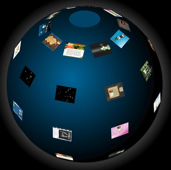 3D球形图片展示